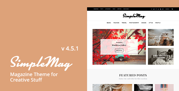 SimpleMag v4.5.1 – Magazine theme for creative stuff