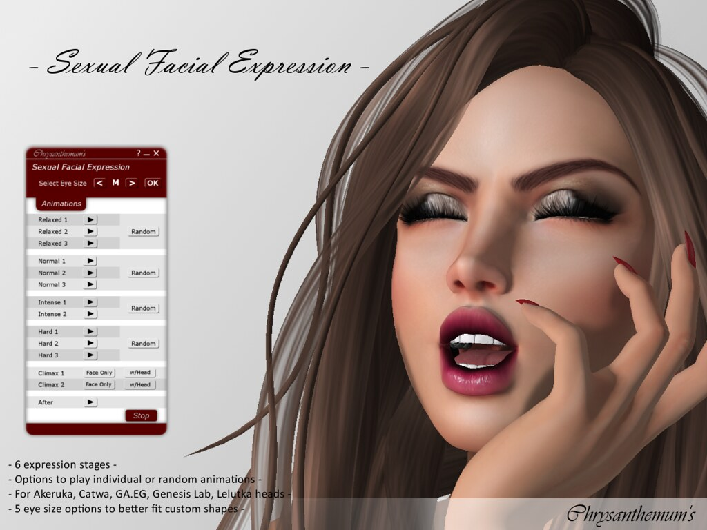 Sexual Facial Expression - SecondLifeHub.com