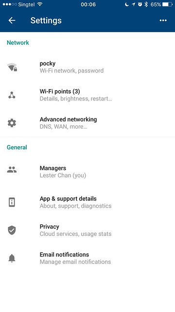 Google Wifi - iOS App - Network Settings
