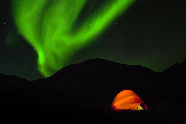 My new tent has passed its most critical test: looking cool on camera. 😉 #Hilleberg #Lofoten #NorthernLights