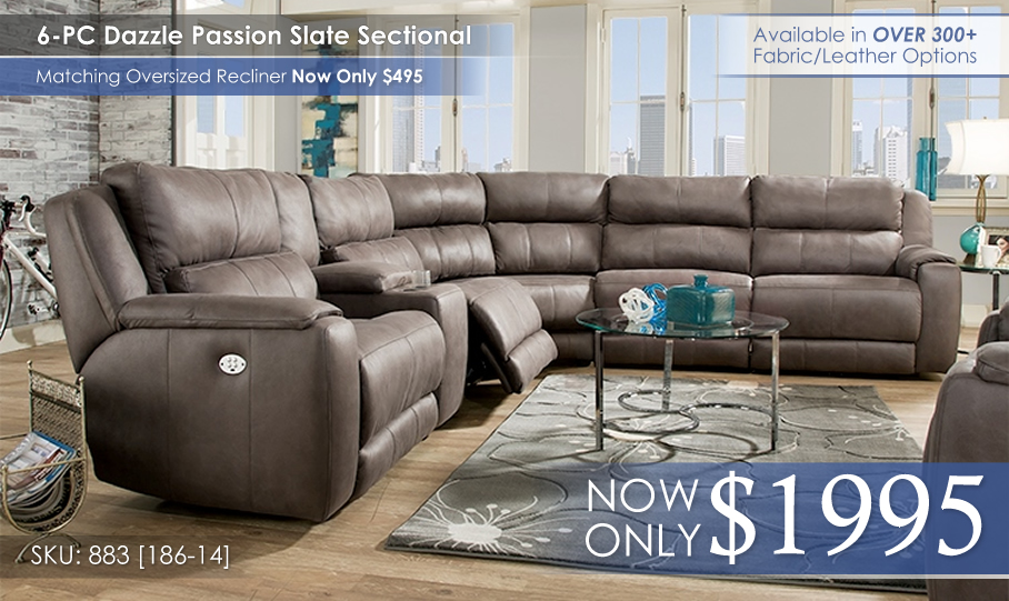 Dazzle 883 Sectional NoPower
