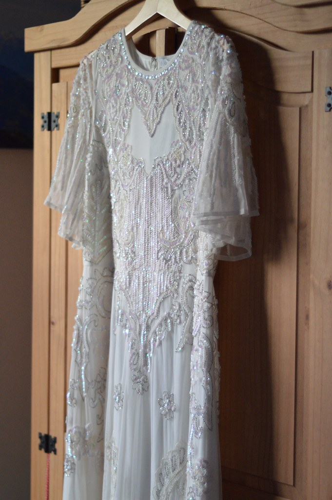 this is a picture of my sequin wedding dress from asos