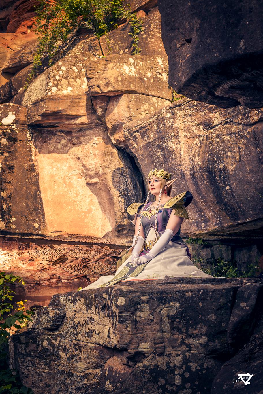 Zelda at Haut Koenigsbourg castle - France
