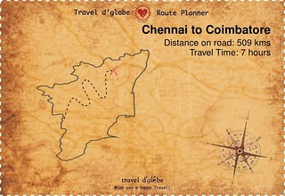 Map from Chennai to Coimbatore
