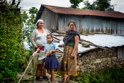 The elderly and kids in the village of Nalma, Lamjung, Nepal.