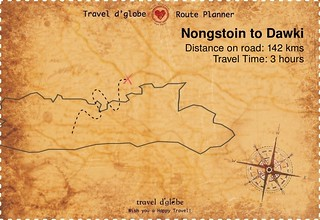 Map from Nongstoin to Dawki