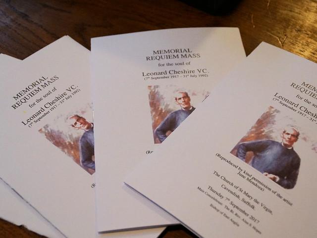 Leonard Cheshire Memorial Mass, Sept 17