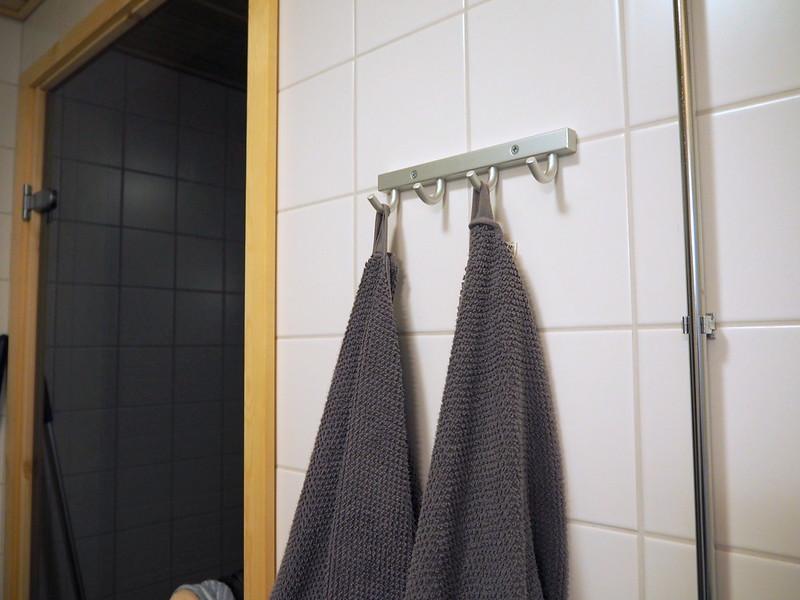 pyyhkeet vessassa