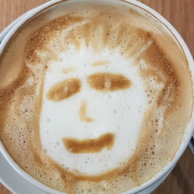 Coffee Foam Face
