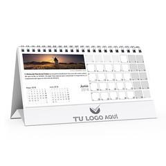 Calendario de Sobremesa 2018 Personalizable (Lámina interior mes cara A)