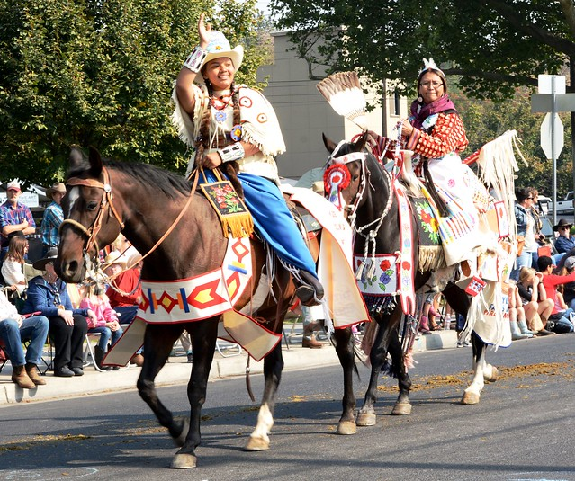 Native American Women on Horseback