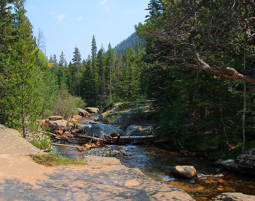 St Vrain Creek BEtween Upper and Lower Copeland Falls - Wild Basin, Rocky Mountain National Park, Colorado