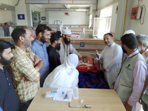 Waza mukhatar in Hospital