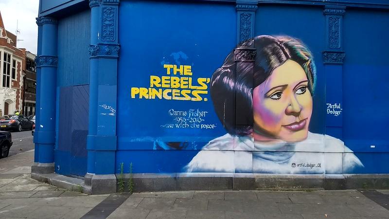 Carrie Fisher / Princess Leia mural, Peckham, London