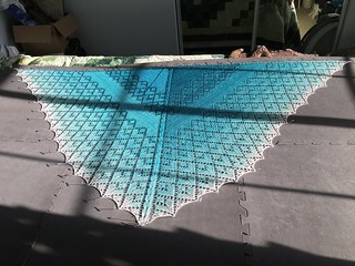 East of the Sun, West of the Moon beaded shawl