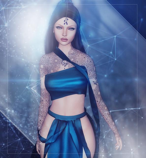 In sparklin blue...