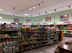 Produce, with a whole new (to Kroger anyway) décor package...
