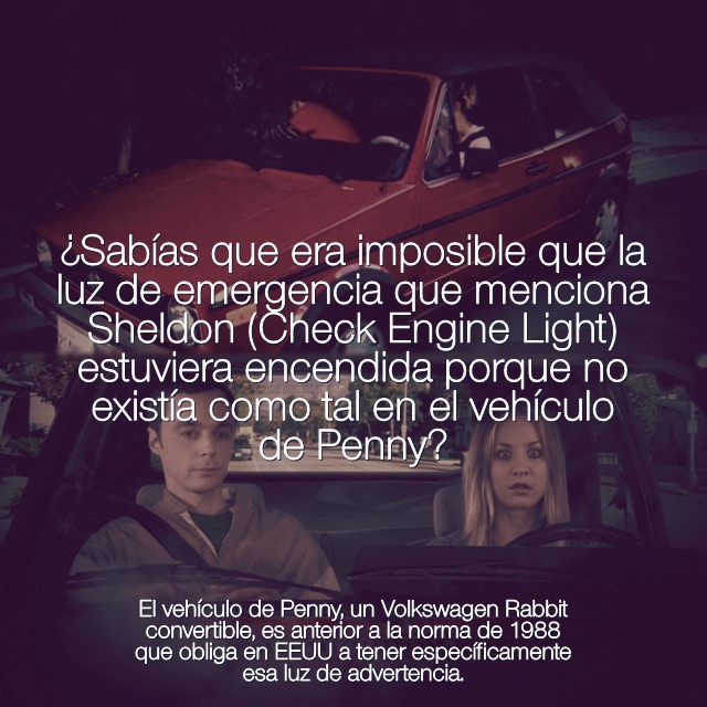 Sabias 7x17 Check Engine Light en VW de Penny y Sheldon2