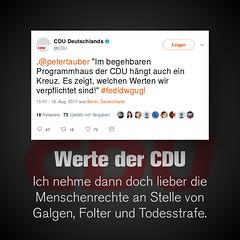Die Werte der CDU…
