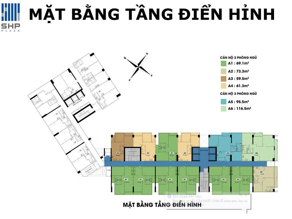"""Mặt bằng điển hình tòa nhà cho thuê căn hộ SHP  <img src=""""images/"""" width="""""""" height="""""""" alt=""""Công ty Bất Động Sản Tanlong Land"""">"""
