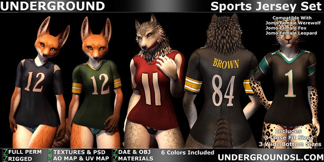 Sports Jersey Set Female Furry