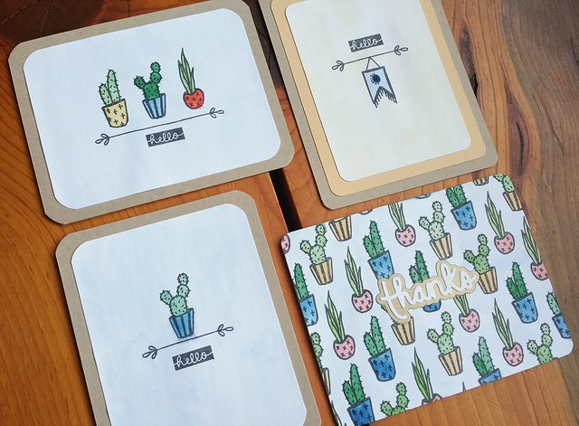 Watercolor Cacti Cards | shirley shirley bo birley Blog