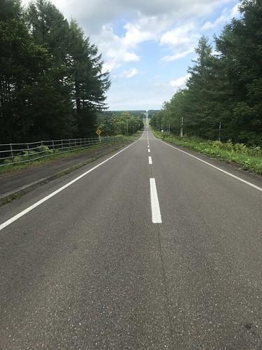 北海道は直線が多い。