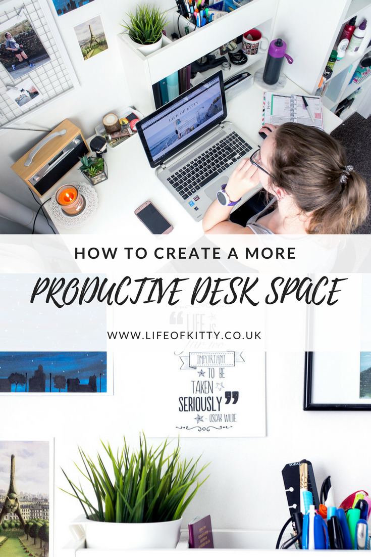 How To Create A More Productive Desk Space // Read More on Life of Kitty