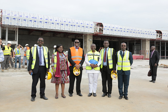 Tour of Bank funded expansion of Kotoka International Airport (Accra), August 3, 2017