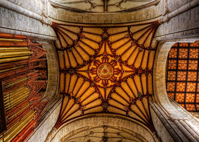 The ceiling of the Choir in the ancient Cathedral of Winchester. Credit Neil Howard, flickr