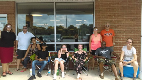 Calvert Library posted a photo:	Solar eclipse viewing at the Southern Branch.