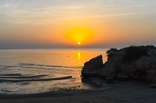 Sunset over the Gulf of Oman