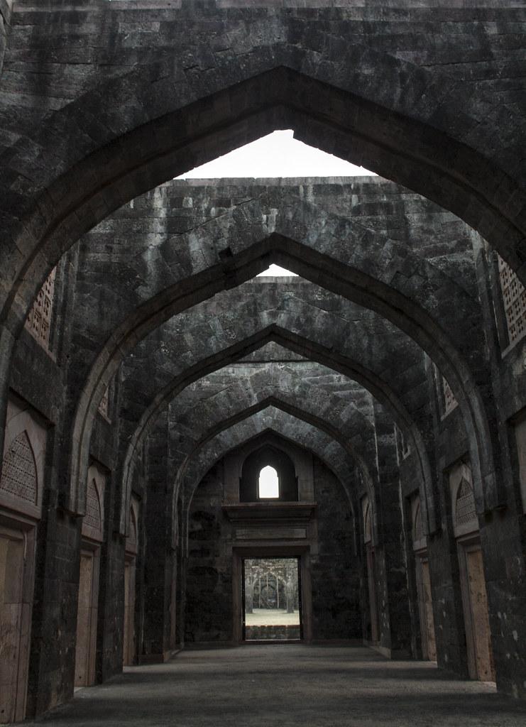 Hindola Mahal in Mandu, Madhya Pradesh, India