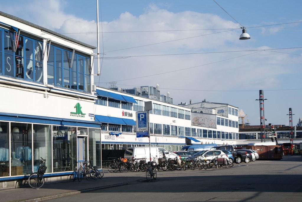 Une petite partie de Meat packing District de Vesterbro à Copenhague.