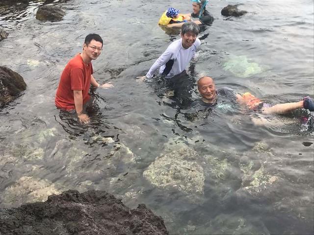 海坊主と海水浴