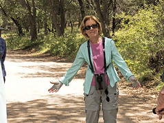 Chuachuca Canyon: Linda Making a Point