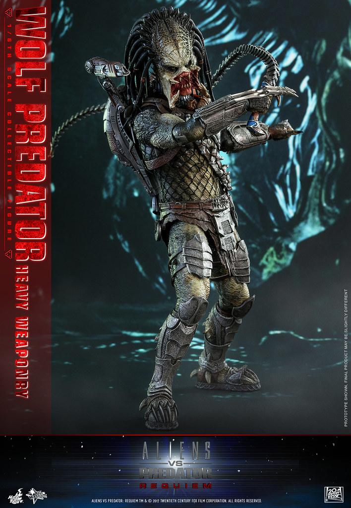 Hot Toys - MMS 443 - 異形戰場2:適者生存【孤狼(重裝版)】AVP2:Requiem Wolf Predator(Heavy Weaponry)1/6 比例人偶作品