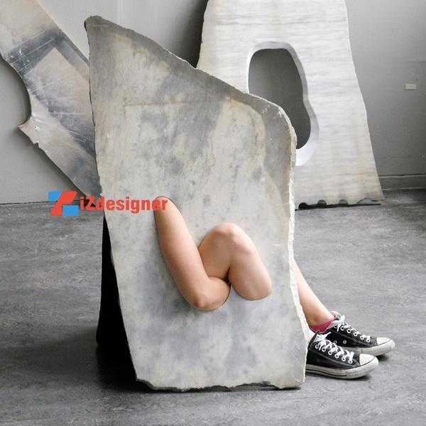 Sự kết hợp độc đáo giữa đá cẩm thạch và cơ thể người