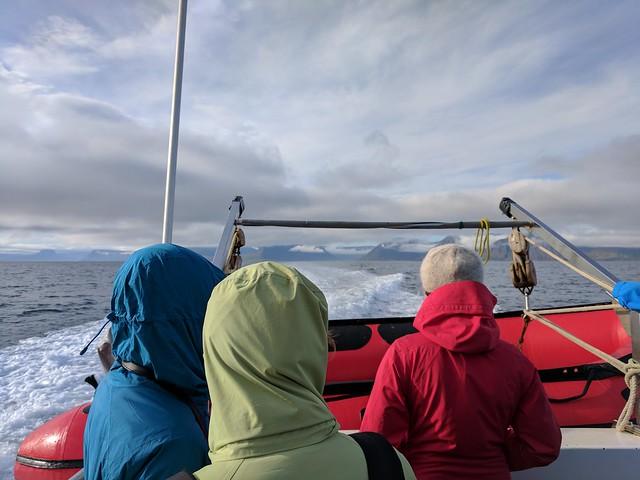 Taking the ferry to Hornstrandir!