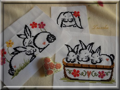cross stitch, bunnies, Brittercup Design (2)