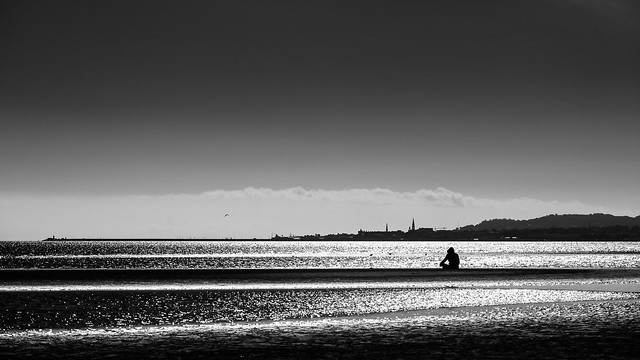 Sandymount beach - Dublin, Ireland - Black and white street photography