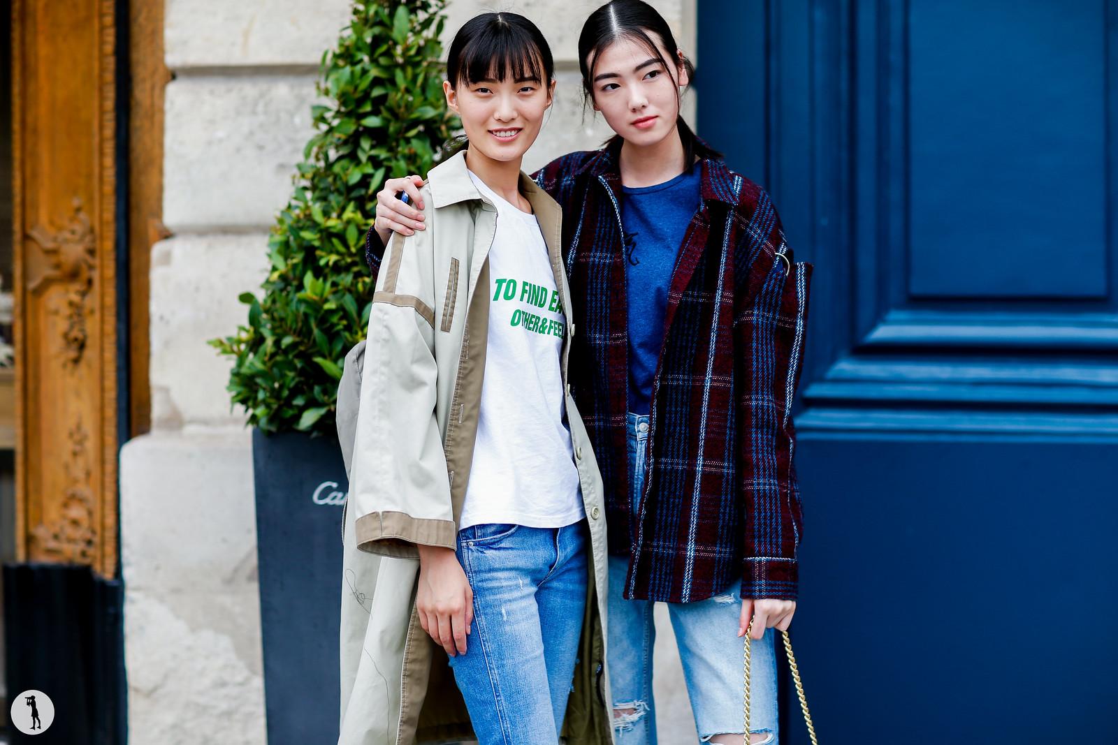 Models Liu Chunjie and Chen Siqi - Paris Fashion Week Haute Couture FW17-18 (1)