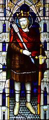 war memorial window: St Edmund (Lavers & Westlake, 1920)