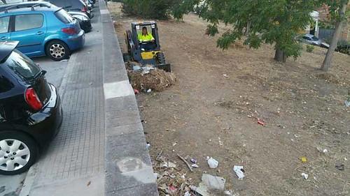 TERMINACION DE LIMPIEZA.DESBROCE Y RECOGIDA CALLE GUERRITA LA PIÑERA1