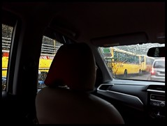 Schoolbus convoy adding to traffic woes