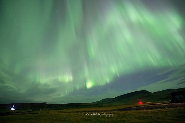 Aurora Borealis over Kalfafell, Iceland