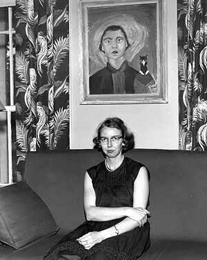 flannery-oconnor-self-portrait
