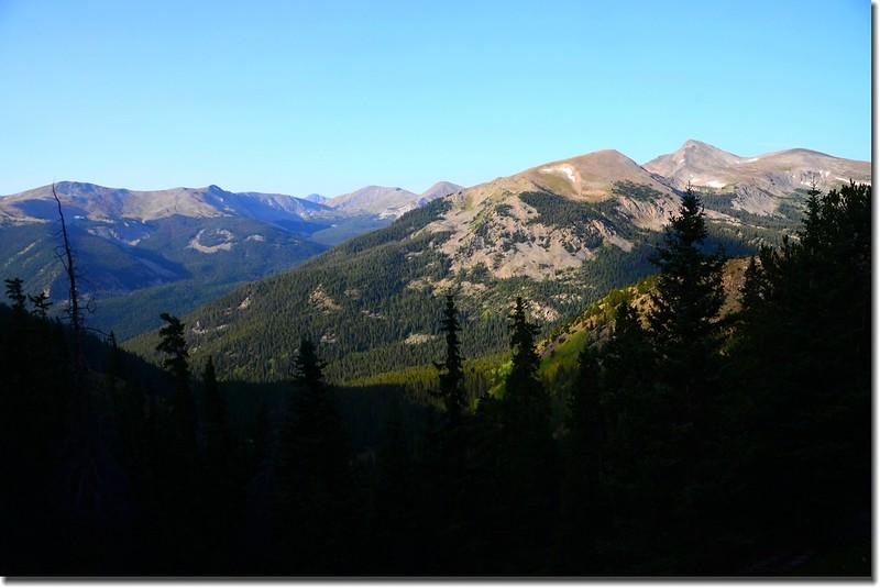 Looking Southwest at Gladstone Ridge from Mount Yale south slope near 11,600'