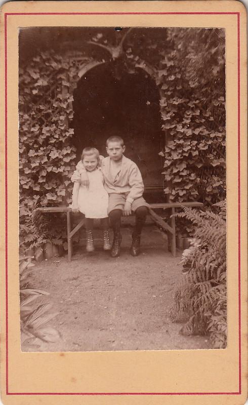 Goldilocks and her big brother (c.1895)