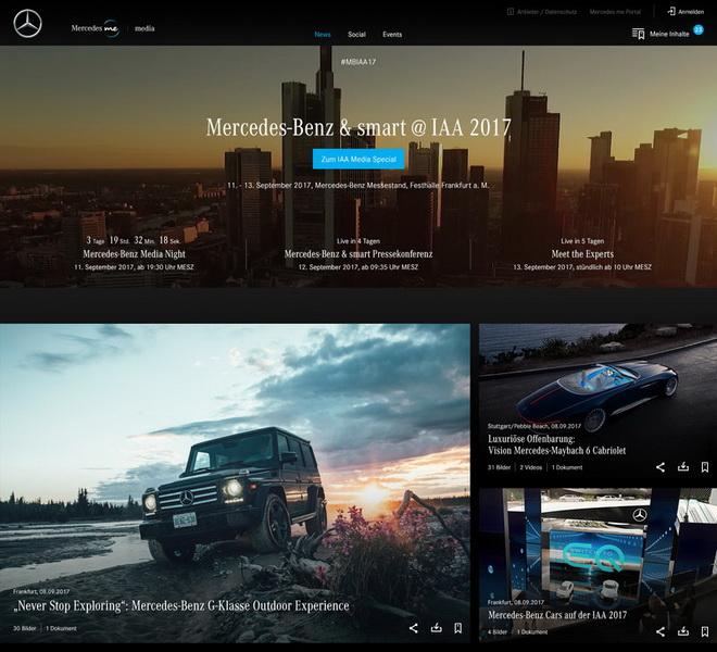 Mercedes-Benz今年在德國法蘭克福盛大舉行的國際汽車展(IAA)上為媒體、部落客等推出創新的數位服務